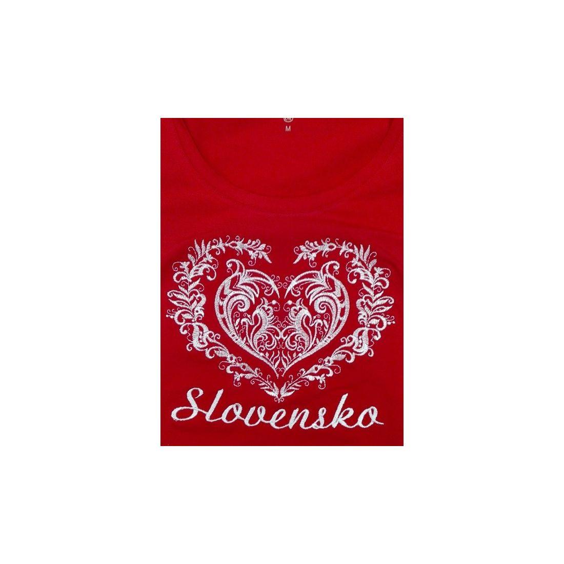 08533e68b688 Tričko srdce Slovakia